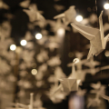 Living Worlds gallery - origami cranes. Image c Paul Cliff
