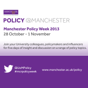 Manchester Policy Week poster