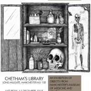 a poster of The Medicine Cabinet exhibition