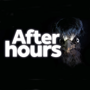 After hours text bird black bkgrd