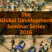 Image of Global Development Seminar Series 2016
