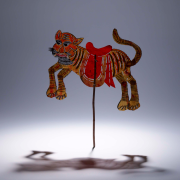 Tiger shadow puppet made of donkey hide. Made in Hubei province, China, between 1850 and1950. ©The Trustees of the British Museum
