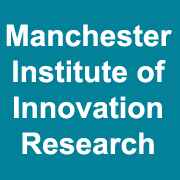 Manchester Institute of Innovation Research written in white on teal
