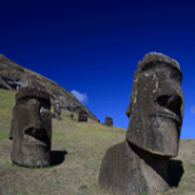 Making Monuments on Rapa Nui: Statues from Easter Island. Photo: Moai heads by Adam Stanford