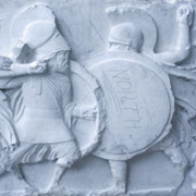 Classics and Ancient History (CLAH) frieze in restoration